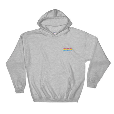 Sunset Bold Stripes Embroidered hoodie