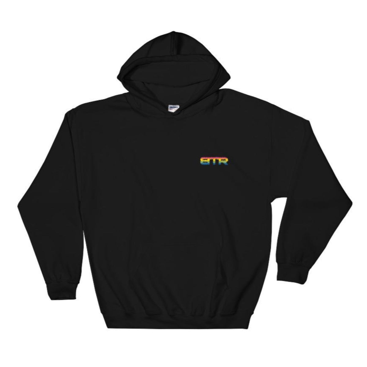 Rainbow Bold Embroidered Hoodie