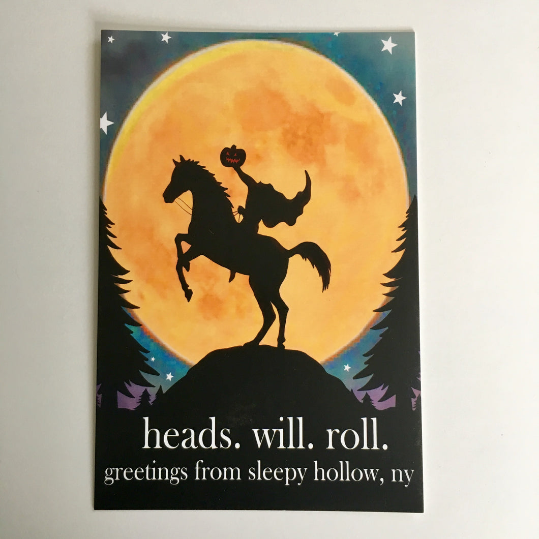 Sleepy Hollow Headless Horseman Postcard