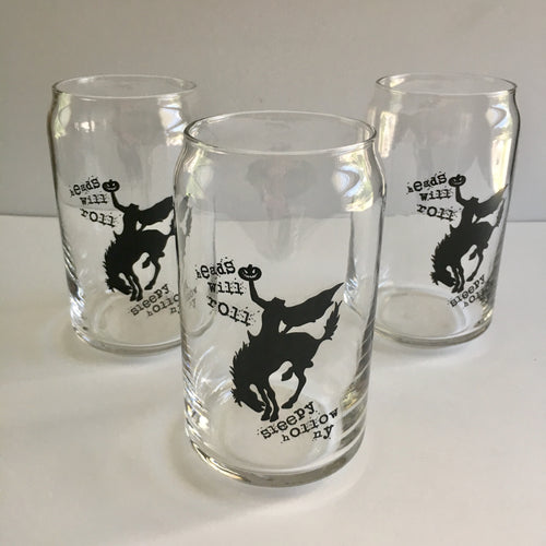 Headless Horseman Sleepy Hollow Heads Will Roll Beer Glass