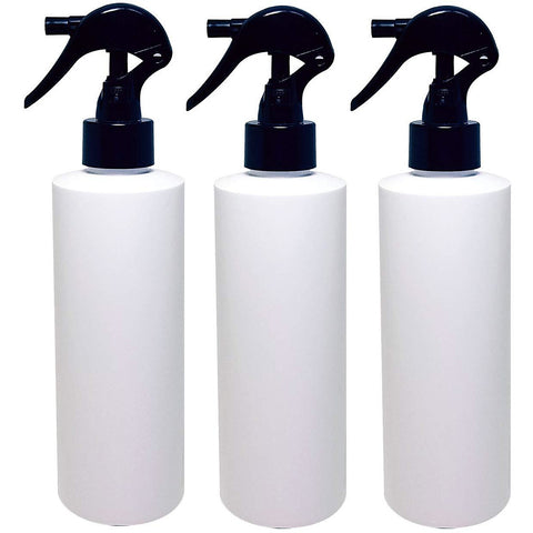 Natura Bona 8oz Black Trigger Sprayer Bottle 3-Pack