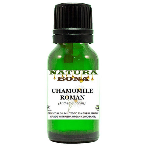 Chamomile Roman Essential Oil Prediluted in Organic Jojoba Oil 10ml