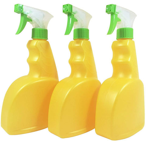 Natura Bona Empty 22oz White/Green Trigger Spray Bottle with a Ribbed Pistol Grip, 3 Pcs