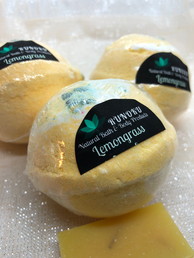 Lemongrass All Natural Bath Bomb