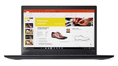 "Lenovo ThinkPad T470s Windows 10 Pro LTE 4G Laptop - Intel Core i7-7500U, 24GB RAM, 512GB PCIe NVMe SSD, 14"" IPS WQHD (2560x1440) Matte Display, Fingerprint Reader, Smart Card Reader, Black Color"