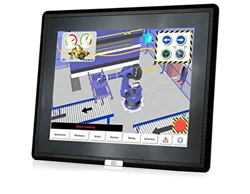 (DMC Taiwan) 12 inches 600 cd/m² XGA LCD Monitor, Aluminum Die Casting Front Panel, Black Color, W/USB Projected Capacitive Touch Screen, 9~36V DC Input