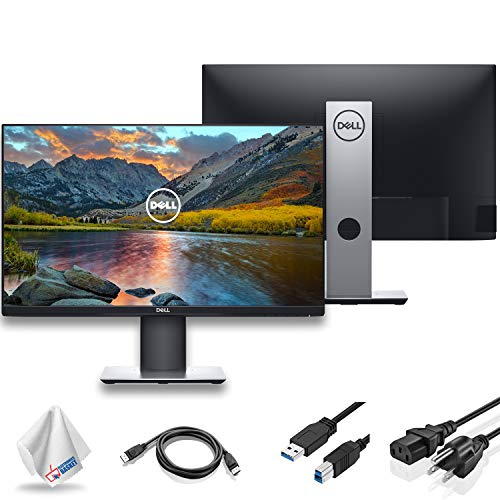 "Dell P2419H 23.8"" 16:9 Ultrathin Bezel IPS Monitor (P2419H) with Microfiber Cleaning Cloth - 3 - Pack"