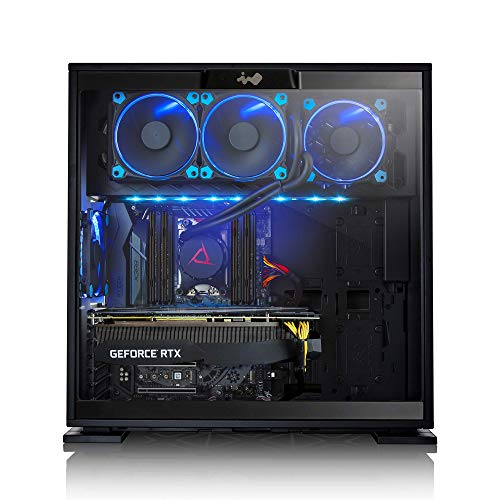 CLX SET Gaming Desktop PC AMD Ryzen Threadripper 2920X 3.5GHz (Max Boost 4.3GHz) 12-Core, X399, 32GB DDR4, GeForce RTX 2080 8GB, 960GB SSD + 6TB, Black Mid-Tower 4 Blue LED Fans, WiFi, Windows 10 Home