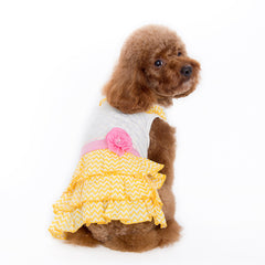 Yellow and White Dog Dress