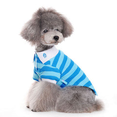 Blue Striped Dog Polo