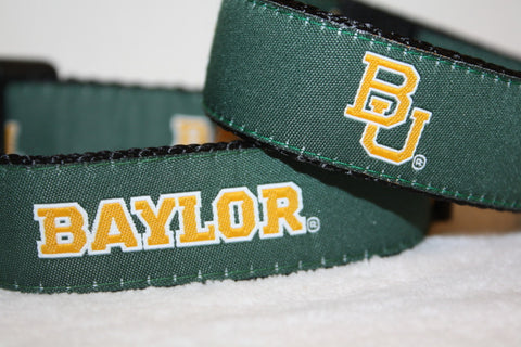 cheap for discount e9102 487c9 Green Baylor University Dog Sports Collar
