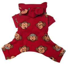 Red Monkey Dog Pajamas