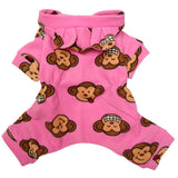Pink Monkey Face Dog Pajama PJ's