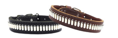 Come Designer Leather Dog Collars
