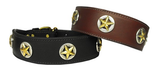 Western Texas Leather Dog Collars