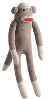 Sock Monkey Squeaky Dog Toy