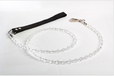 clear jewelry dog leash