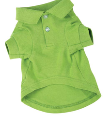 GREEN POLO DOG SHIRT