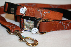 Orange University of Texas Dog Collar
