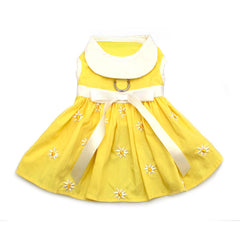 Yellow Daisy Harness Dog Dress