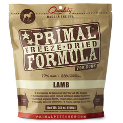 Primal Freeze-Dried Lamb Formula Dog Food 5.5 oz