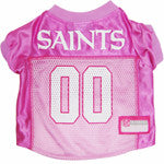 Pink New Orleans Saints Dog Jersey