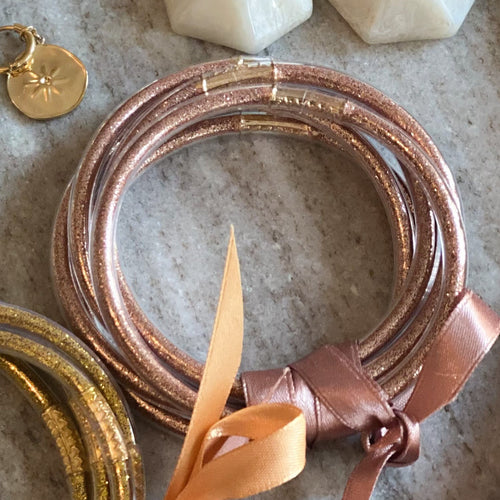 Lot de 5 Bracelets Zen & Incassables - Or rose