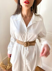 Robe chemise blanche Libre et chic MUST HAVE