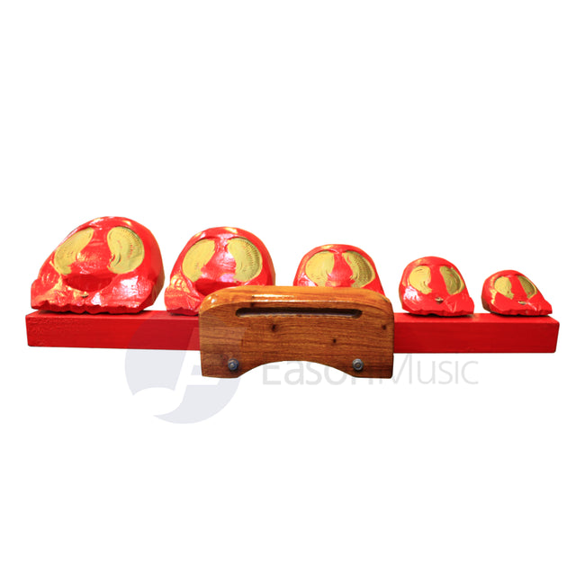 China 5 Piece Temple Block Set with Stand