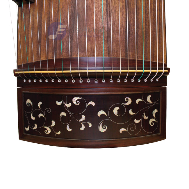 "Exquisite Yellow Sandalwood ""Shell Inlay Vines "" 21# Guzheng by Shanghai Dunhuang Yun"