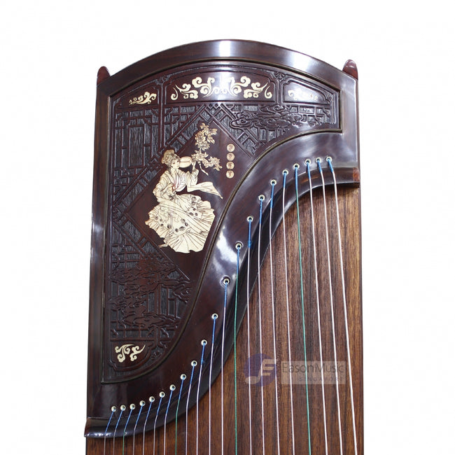 "Exquisite Yellow Sandalwood ""Sleeping Beauty "" 21# Guzheng by Shanghai Dunhuang Yun"