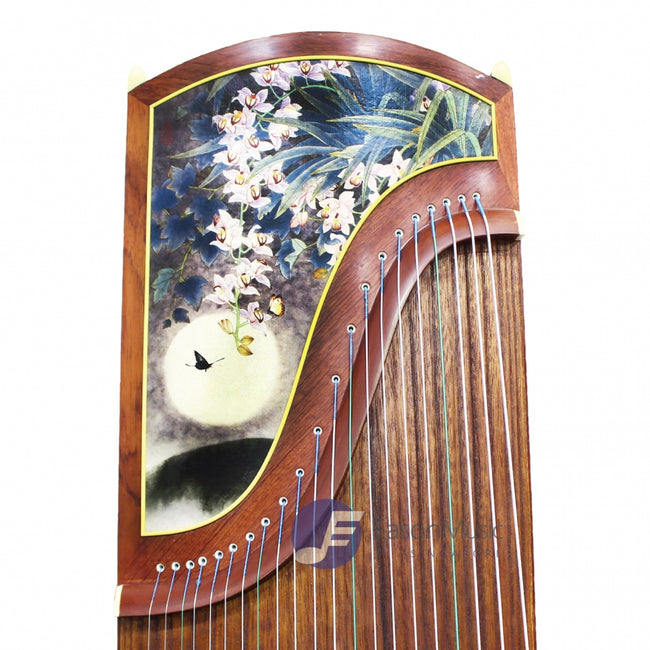 "Popular Rosewood ""Moon-Bathed Flowers"" 21# Guzheng by Shanghai Dunhuang Yun"