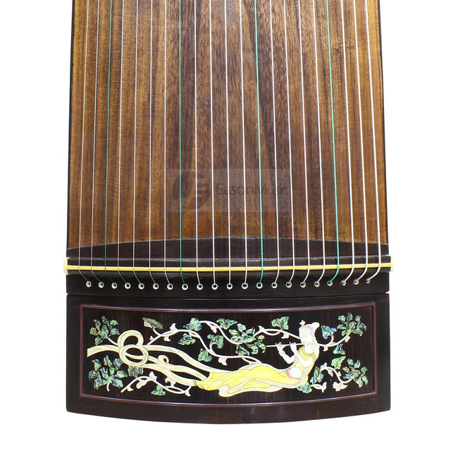 "Professional Black Rosewood ""Shell Inlay Fairy"" 21# Guzheng by Shanghai Dunhuang Yun"