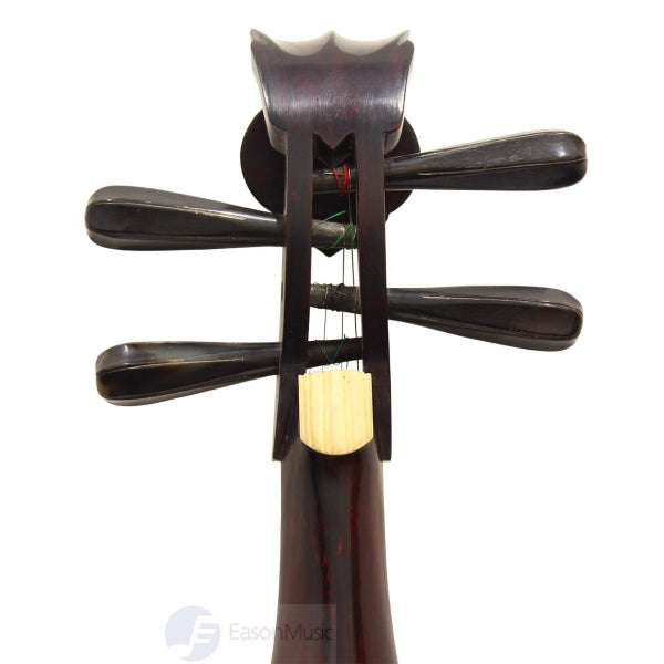 Professional Rosewood Liuqin with Black Buffalo Horn Pegs by Meng Xian Hong