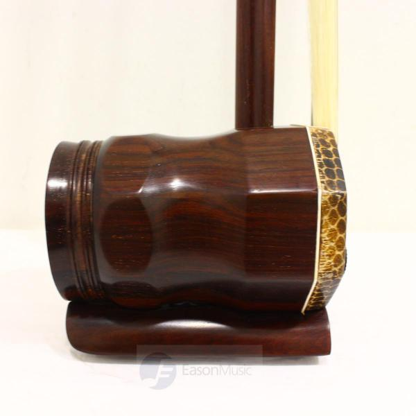 Professional Aged Rosewood Octagonal Erhu by Rao Yang Bei Fang with Synthetic Skin and Bronze Tuner