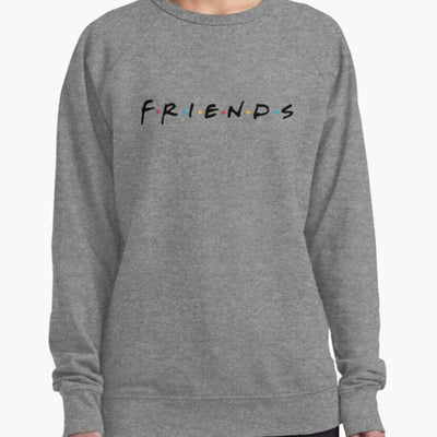 Women's 100% Cotton Friends TV Show Super Comfy Casual Crew Neck-Women's Clothing-Laundry Day Apparel