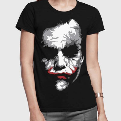 Fashionable and fitted Heath Ledger's Joker t-shirt for women-Women's Clothing-Laundry Day Apparel