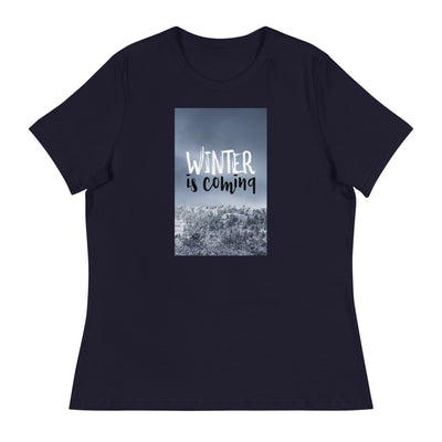 Game of Thrones Winter is Coming Women's Stylish and Comfortable T-Shirt-Laundry Day Apparel