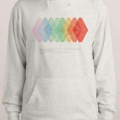 Stylish and modern hoodie featuring a contemporary rainbow graphic-Men's Clothing-Laundry Day Apparel