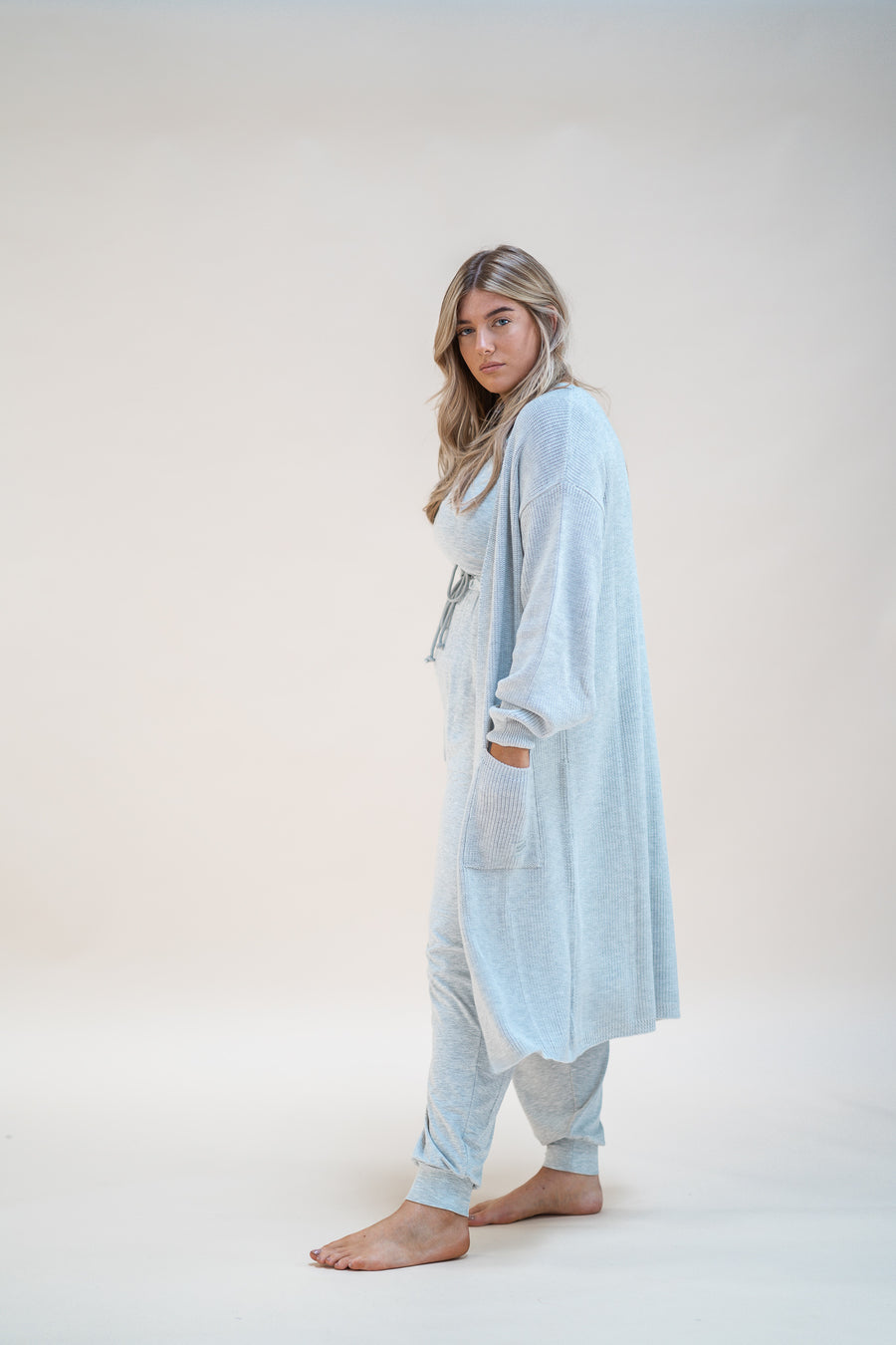 Christmas Crystal Cardi - Grey