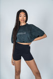 Chill Crop - Black Acid Wash