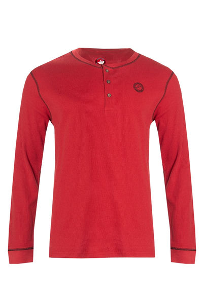 Canada Weather Gear Long Sleeve Top - Red Mens Long Sleeve Tops INTERNATIONAL CLOTHIERS S  ?id=15949186236529