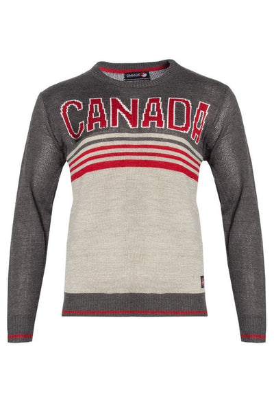 Canada Weather Gear Pullover Sweater - Grey Mens Pullover Sweaters INTERNATIONAL CLOTHIERS S  ?id=16068407689329