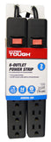 Hyper Tough 6 Outlets 2.5ft Power Strip, 2 Pack, Black (PS682_2PKB) 082721406668