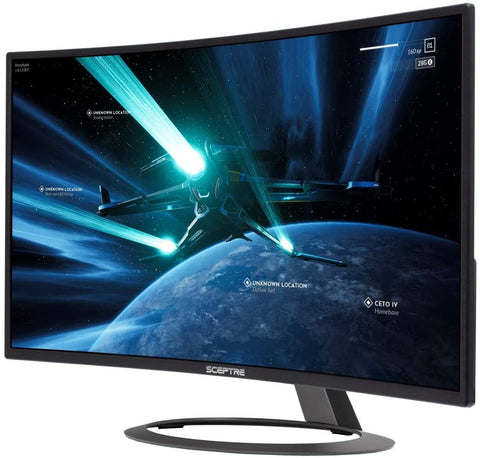 "Sceptre 32"" Curved Gaming Monitor HDMI DisplayPort with Build-in Speakers (C326B-185RD)"