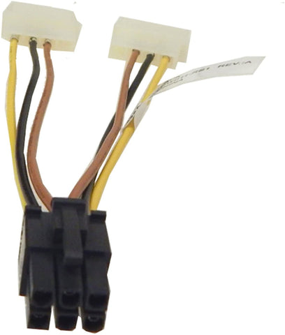 Compupack 5 Inch Dual 4Pin to 6Pin Power Cable (A001-W011-RS1) 4872503152014