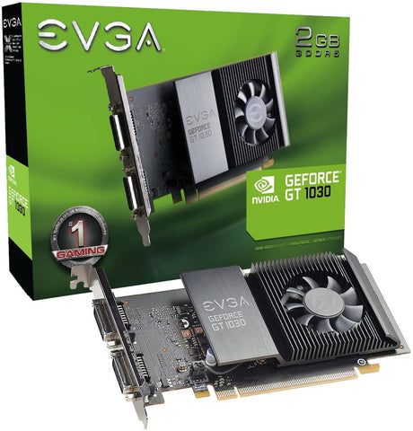 02G-P4-6338-KR EVGA GeForce GT 1030 SC 2GB GDDR5 Single Slot Graphics Card 843368048273