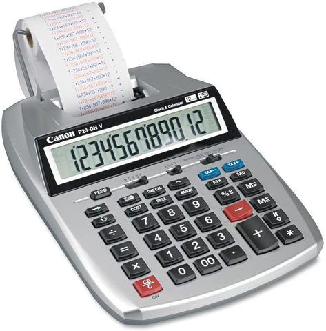 Canon 12-Digit Printing Calculator, Purple/Red Print, 2.3 Lines/Sec LAST ONE, OPEN BOX (P23-DH V)