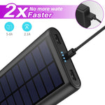 26800mAh Portable Solar Power Bank with 4 LEDs and 2 USB Output Ports (HX160Y9)