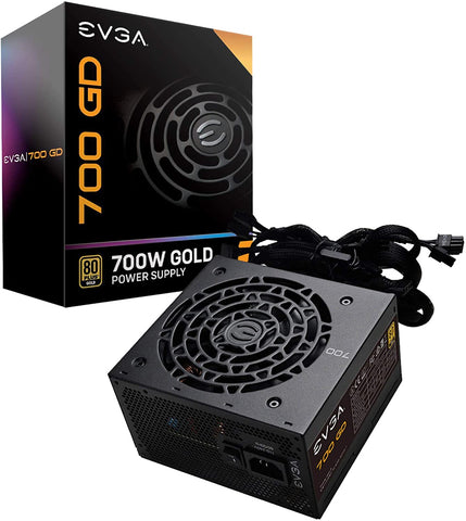 100-GD-0700-V1 EVGA 700 GD, 80+ GOLD 700W Power Supply 843368057374